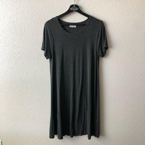Madewell Dark Heather Grey Tee Shirt Dress Sz M